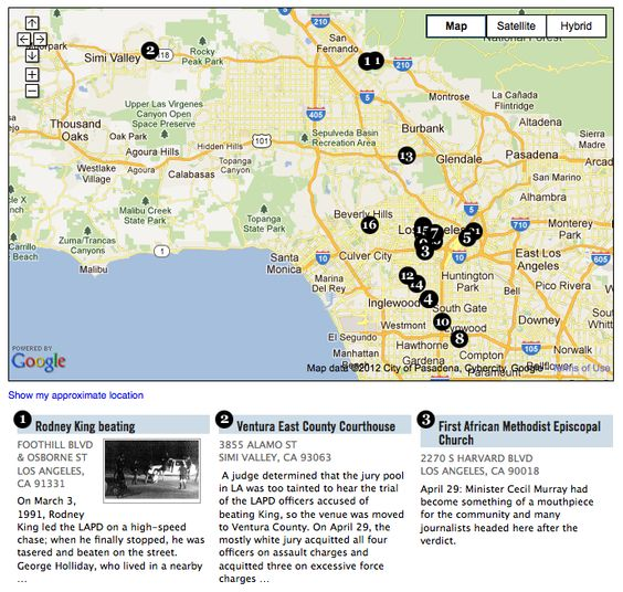Mapping The LA Uprising - Map of riots in us