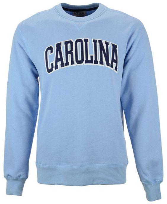 Knights Apparel Men's North Carolina Tar Heels Crew Neck Sweatshirt