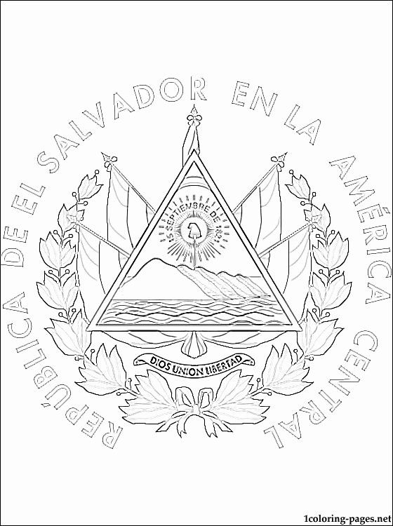 28 El Salvador Flag Coloring Page In 2020 Flag Coloring Pages