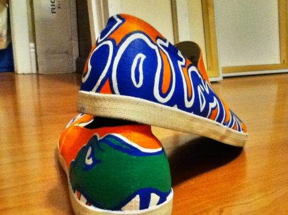 University of Florida Gators hand painted shoes