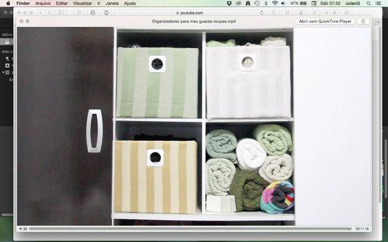 DIY Organizadores para meu guarda-roupas ✂️ Artesanato