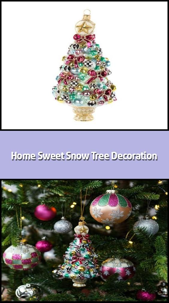 Home Sweet Snow Tree Decoration Christmas Tree Ornament Material Glass Dimensions H16 5x11 4cm Handc In 2020 Tree Decorations Snow Tree Christmas Tree Decorations