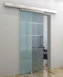 Hot Item Tempered Glass Sliding Door With Aluminum Top Channel Sliding Glass Door Modern Bathroom Design Glass Bathroom
