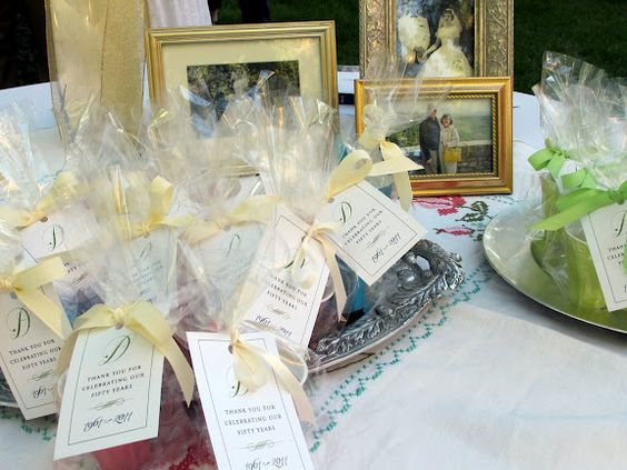 50th Wedding Anniversary Gift Ideas Gold: 50th Wedding Anniversary Favor Bags (and Other Ideas