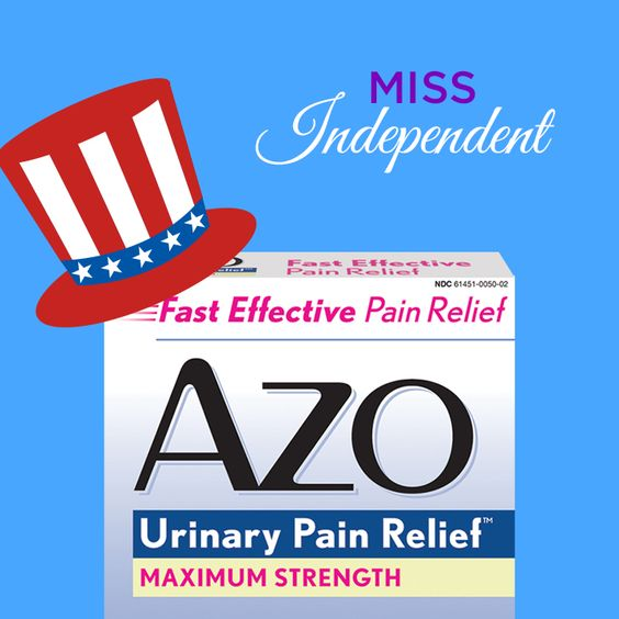What happened to Miss #Independent? NOTHING. She's got AZO Urinary Pain Relief to help her feel better #fast. #Relief #Original