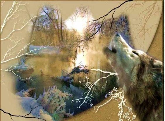 Native art/wolf