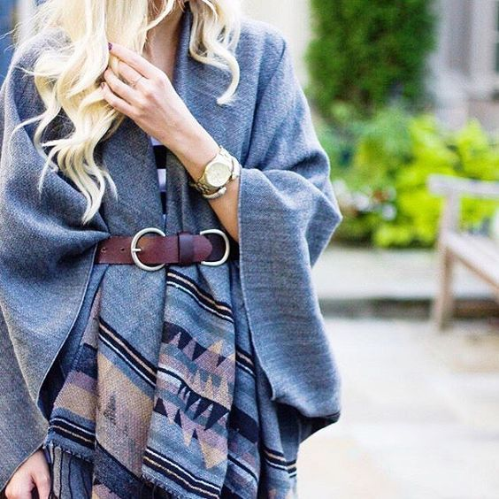 Still on the hunt for the perfect poncho? We're loving @kyleesnelgrove's #LTKunder50 find, not to mention her belted up #LTKstyletip | Shop the look with www.LIKEtoKNOW.it | www.liketk.it/1Njck #liketkit
