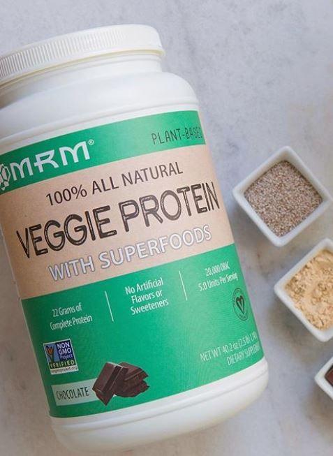 Mrm Nutrition Veggie Protein With Superfoods Chocolate 20 1 Oz 570 G Superfoods Vegan Essentials Protein