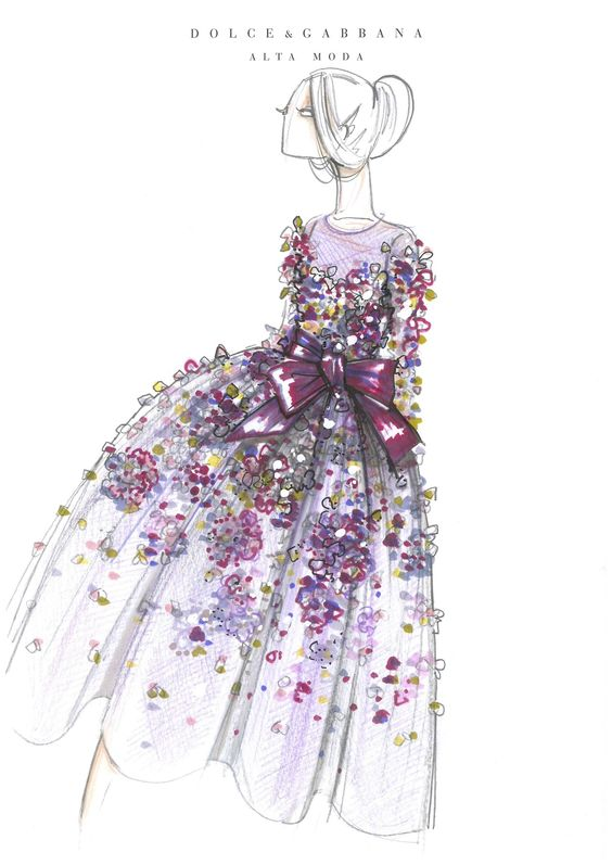Adorable and Crazy White/Colorfilled Dress with Big Bow FROM: Dolce & Gabbana. FROM: Sketches on Saturday
