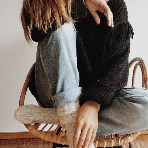 jeans and a jumper plain and simple <3