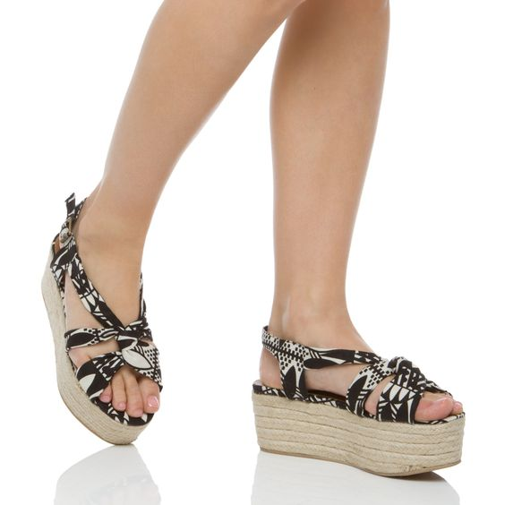 Fantastic Platforms in Black and White Tribal Print! YES please