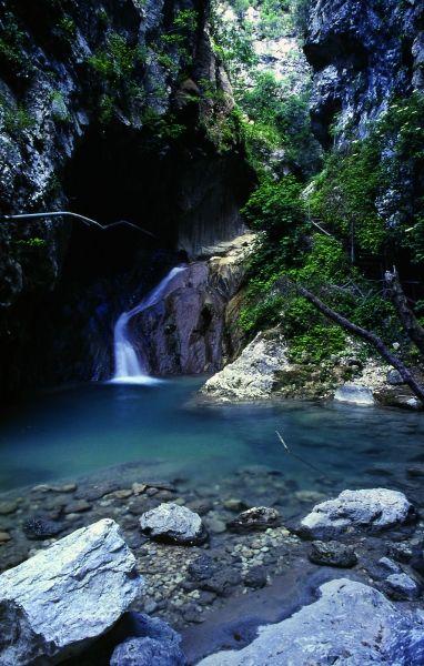 Waterfall in Lefkada