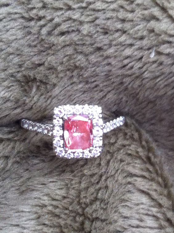 Pink Diamond Engagement Ring :)