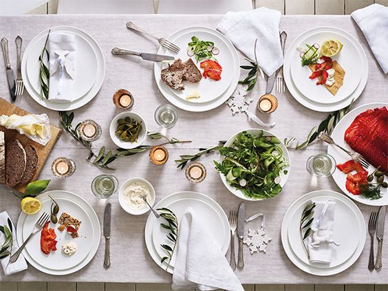 table setting images - white