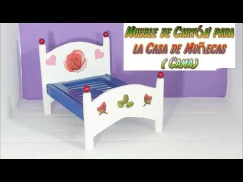 Muebles con cart n para casas de mu ecas tutorial de una for Muebles de munecas