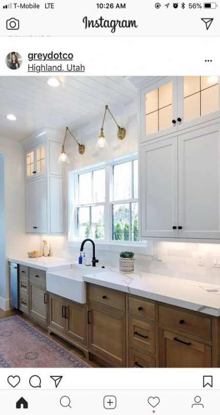 Good Pic Farmhouse Sink Wood Countertop, Tall Kitchen Cabinets Ireland