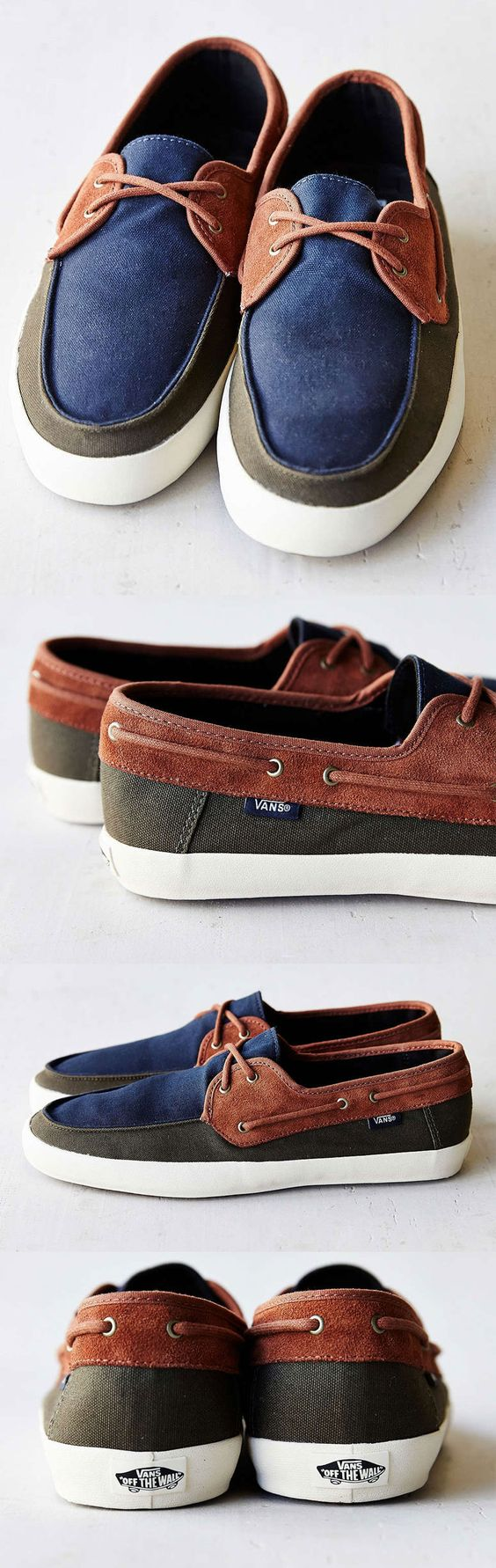 vans mens canvas boat shoes