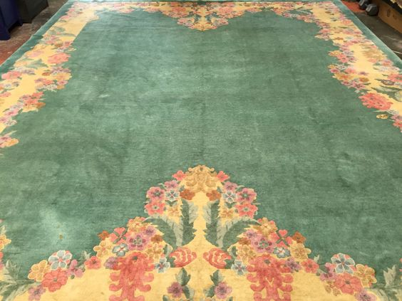 Art Deco Chinese Rug 11x14 Pastel Colors