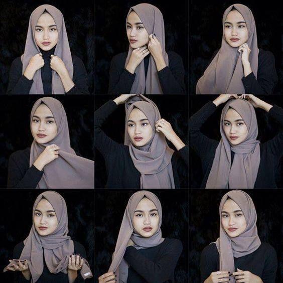 Tutorial Hijab Pashmina Panjang Sebelah