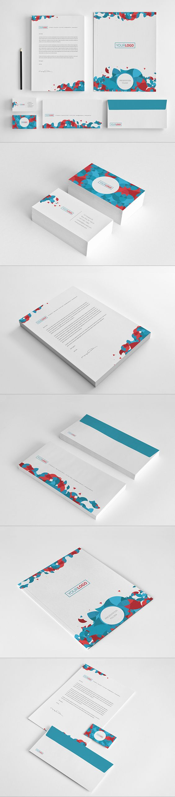 Circles Stationary Pack by Abra Design, via Behance #design #stationary