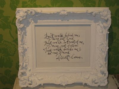 matte paint w framed quote