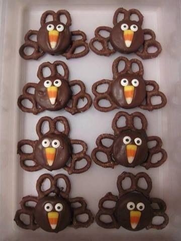 Thanksgiving turkeys-the kids would love these!!