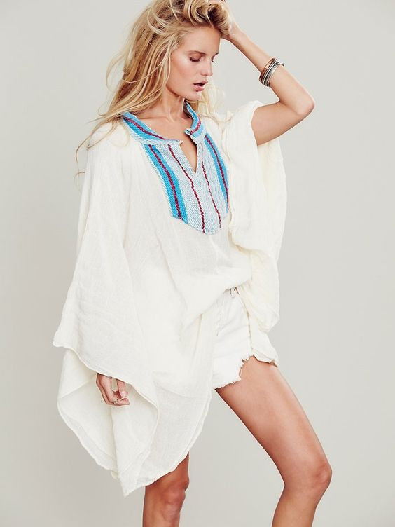 Jen's Pirate Booty Baja Beach Poncho at Free People Clothing Boutique