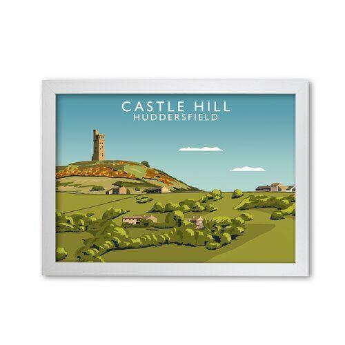 Castle Hill Huddersfield Framed Graphic Art Print Corrigan Studio Frame Options White Size 29 7 Cm H X 42 Cm W Graphic Art Studio Art Prints