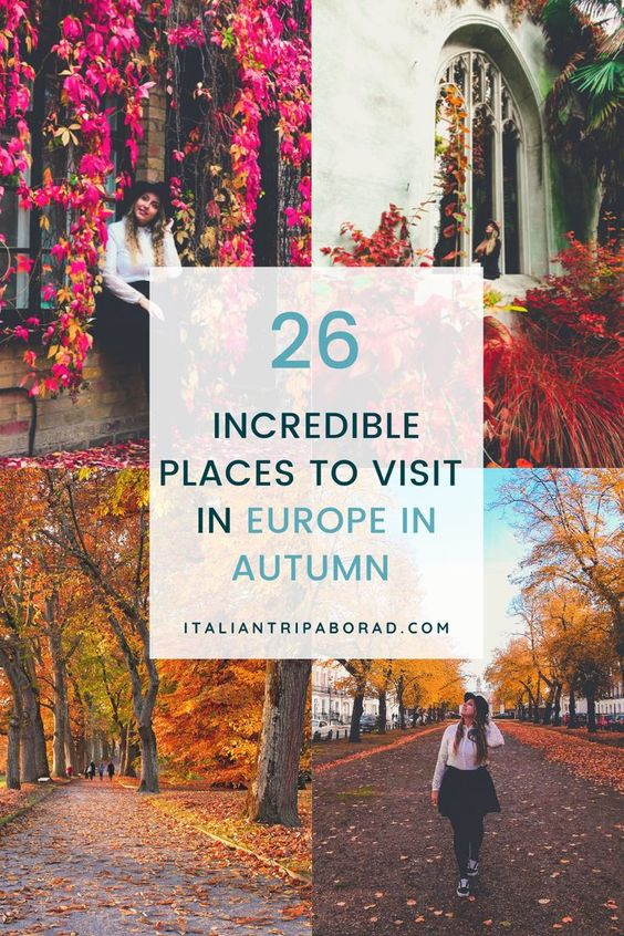 Incredible places to visit in Europe in autumn