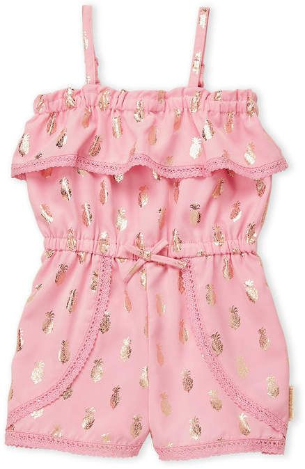 Juicy Couture Girls 4 6x Metallic Pineapple Romper Couture Baby Clothes Toddler Girl Jackets Juicy Couture Baby