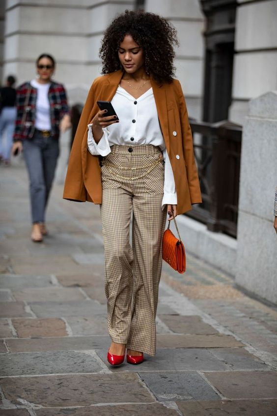 On the street at #LFW. #streetstyle #redheels