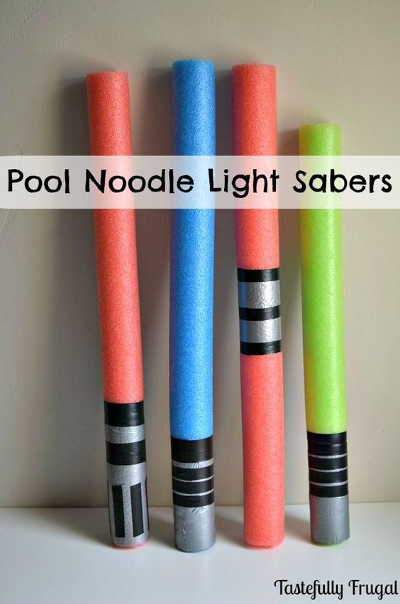 Pool Noodle Light Sabers: A must have for any Star Wars party!:
