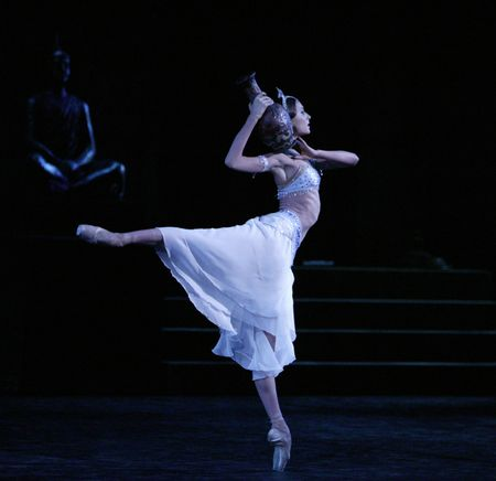 "Svetlana Zakharova in ""La Bayadère."" Photo by Damir Yusupov."