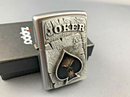 Zippo Vintage Black Skull Joker Emblem Very Rare Collectible Lighter Zippo Lighter Rare Engraved Zippo Zippo Lighter