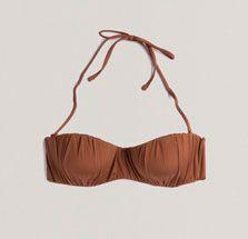 Oysho SS13 #Bandeau #bikini push up frunces
