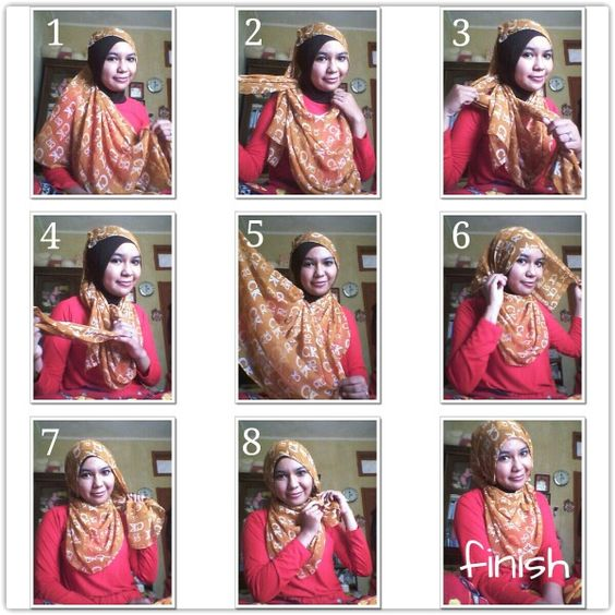 for round face hijab tutorial pinterest round faces