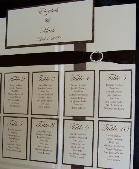 FREE Wedding Seating Chart : Wedding, Promotion and Charts