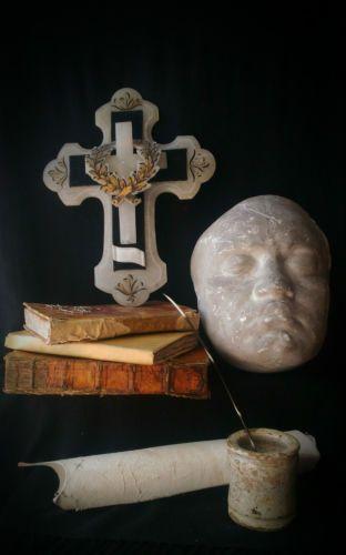 Antica croce funebre vittoriana onice Antique victorian crucifix funeral oddity in Arte e antiquariato, Arte sacra, Crocifissi   eBay