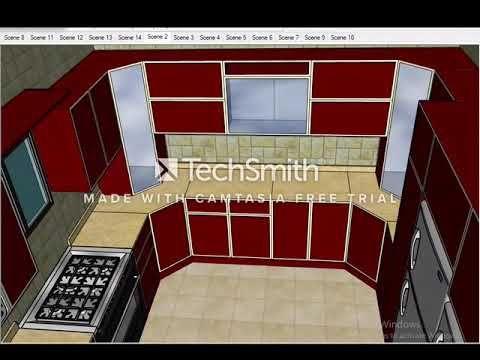 Kitchen Design Sketchup تصميم مطابخ الومنيوم Fantasy Videos Youtube Kitchen Design Design Kitchen