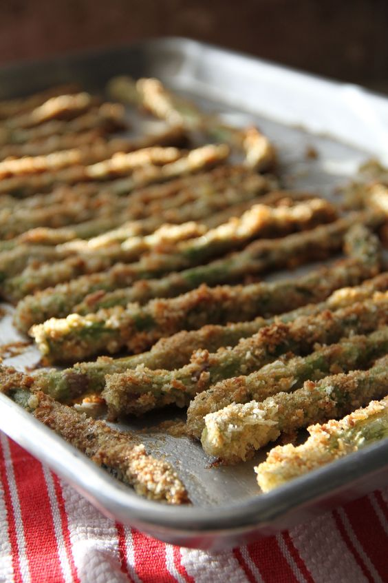 Baked Panko-Crusted Asparagus