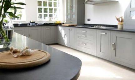 Best Kitchen Grey Cupboards Black Worktop 41 Ideas Grey Kitchen Cupboards Taupe Kitchen Black Granite Kitchen