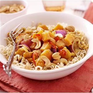 Smeuïge curry van pompoen en kaneel