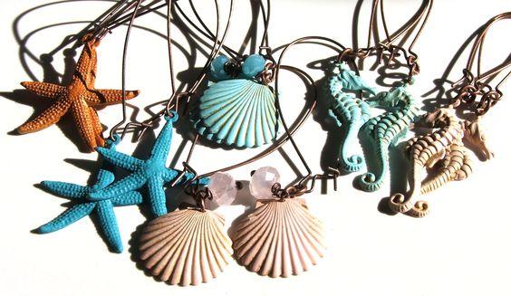 brass sea earring selection