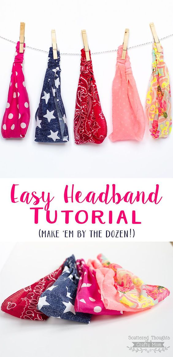 Easy Elastic Headband Tutorial - just like the ones from France - has sizes but same as made before