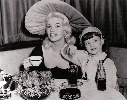 jayne mansfield with daughter mariska jayne mansfield