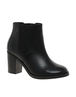 ASOS APOCALYPSE Leather Chelsea Ankle Boots- my classic black ...