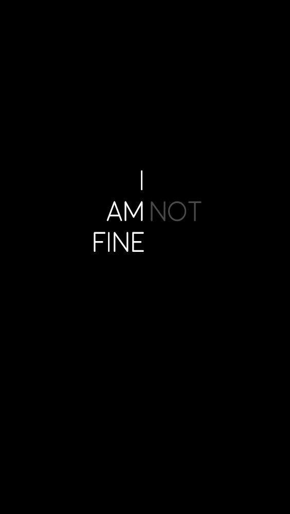 I Am Not Fine Wallpaper By Sue36 Sayings Vehicle Logos Logos