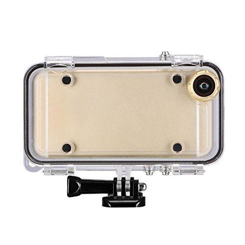 CUDO 高品質iPhone6 Plus 6S Plus用防水ケース IPX68防水保護等級水深10M完全防水ケース スマホケース Goproマウント対応 170度広角レンズ 潜水用 防滴 防振 防塵 防雪 耐衝撃カバ ー 敏感なタッチ アイフォン 2色の選択 (iphone6 Plus/6S Plus ゴールデン)