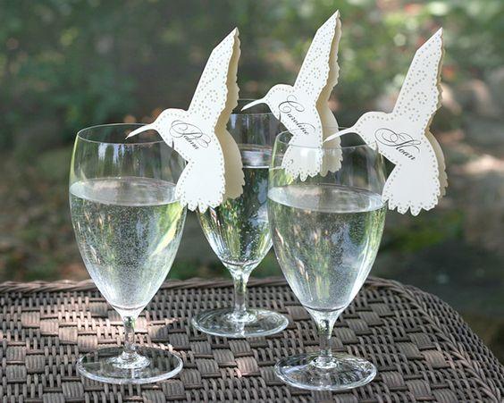 Siluetas de papel colibri compra aqu - Decoracion de bodas originales ...