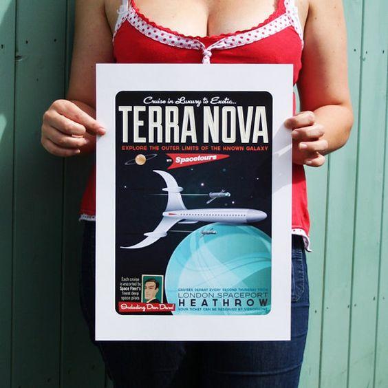 Dan Dare Travel Poster